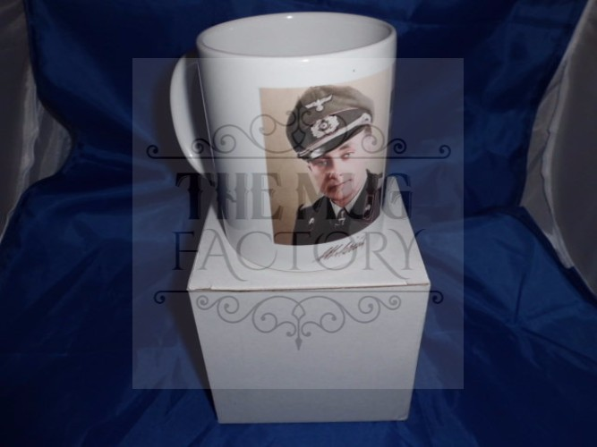 Otto Carius Tank Ace Then and Now military mug