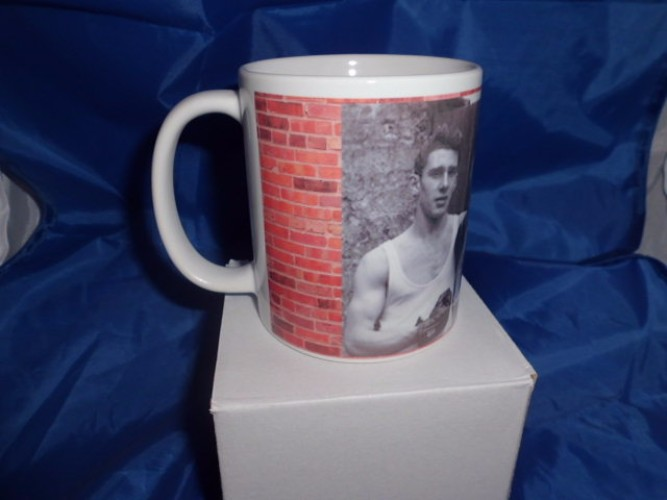 Ron and Reg Kray with their mother personalized mug printed mug